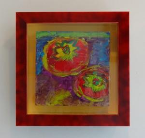 衣笠泰介作品 アクリル絵の具で描いたトマトの絵