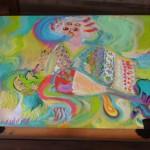 京都御苑内白雲神社の妙音弁財天絵馬、今日も元気!百年後もピカピカ輝くよ!