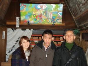 初詣で白雲神社弁天さんと泰介ファミリー