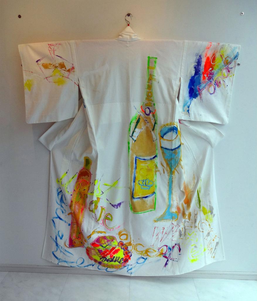 衣笠泰介の手描きデニム着物