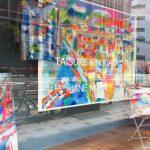 「大阪御堂筋アート2017」 ONWARD御堂筋本町のショーウィンドーがTaisuke art ×fashionに。